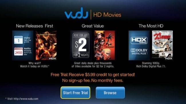 VUDU Samsung Tizen Smart TV