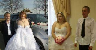 25 раз, когда невесты показали в декольте больше, чем было нужно…